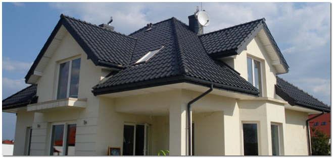 Многоскатная крыша дома фото