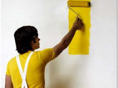 Декоративная покраска стен алкидной эмалью своими руками