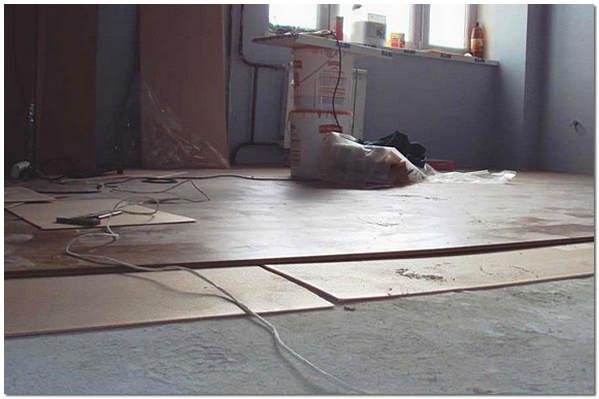 Укладка ламината на выровненый бетонный пол