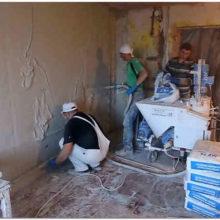 Гипсовая штукатурка машинного нанесения – высокий уровень отделки стен при ремонте и строительстве частного дома