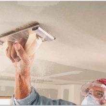 Шпаклевка бетонных потолков под покраску своими руками