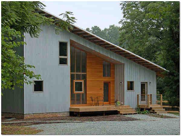 Плоская односкатная крыша для дома