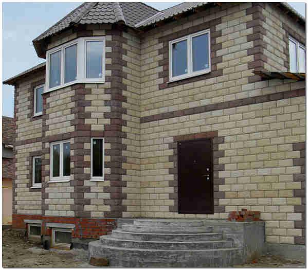 Дом из теплоблока фото