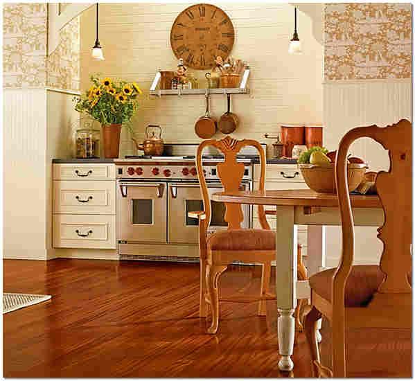Влагостойкий ламинат 32 класса на кухне фото