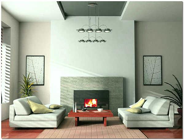 Современная гостиная в теплых тонах