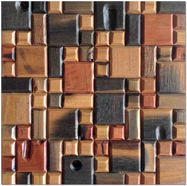 Мозаичное панно из дерева