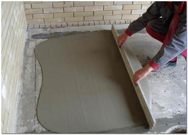 Цементная стяжка пола своими руками