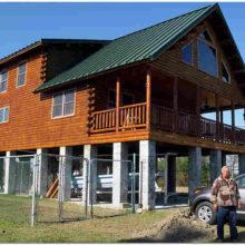 Столбчатый фундамент для дома из профилированного бруса и кирпича