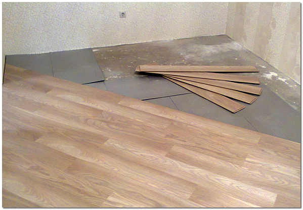 Укладка ламината по диагонали на бетонный пол фото