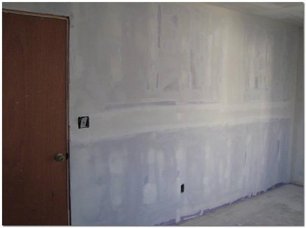 Выравнивание и шпаклевка гипсокартонных стен