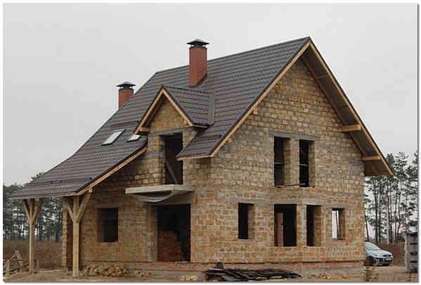 Строительство дома из ракушечника